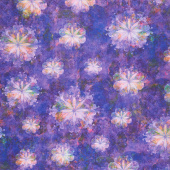 Venice - Flowers Violet Digitally Printed Yardage