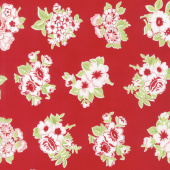 Little Snippets - Marmalade Floral Red Yardage