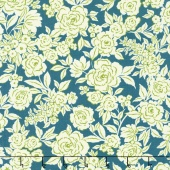 Zola - Etched Floral Navy Yardage
