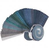 "Woolies Flannel Stormy Seas 2.5"" Strips"
