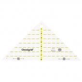 """Omnigrid 8"""" Quarter Square Triangle Ruler"""
