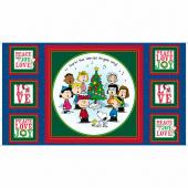 Peace Love Joy - Charlie Brown Carolers Panel