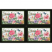 Botanica - Placemats Black Multi Digitally Printed Panel