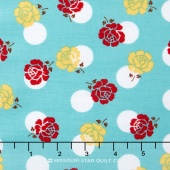 Sew Cherry 2 - Rose Aqua Yardage