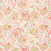 Painted Meadow - Coneflower Paisley Cream Yardage