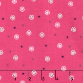 J is for Jeep - Pink Colorway Jeep Stars Pink Sparkle Metallic Yardage