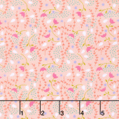 Enchanted - Flower Vine Blush Yardage