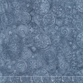 Faded Blue Jeans Batiks - Beads Light Lagoon Yardage