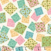 Sewing Mends the Soul - Fabric Squares Ecru Yardage