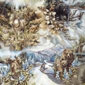 North American Wildlife - Scenic Mountain Earth Yardage