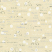 Winter's Grandeur 6 - Champagne Words Champagne Metallic Yardage
