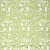 Anne of Green Gables - Anne Silhouette Green Yardage