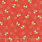 All About the Bees - Bee Trails Red Yardage