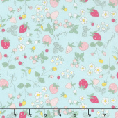 Serendipity - Strawberries Aqua Yardage