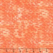 Diggers and Dumpers - Brickwork Orange Yardage