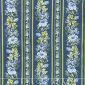Gabrielle - Stripe Blue Yardage