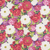 Floral Serenade - Large Packed Floral Multi Yardage