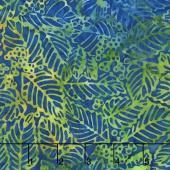 Tiki Batiks - Leaf Blue Lagoon Yardage