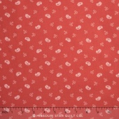 Miss Scarlet - Small Paisley Warm Red Yardage