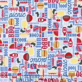 Patriotic Picnic - Main Light Blue Yardage