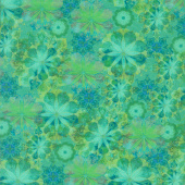 Venice - Flowers Jade Digitally Printed Yardage
