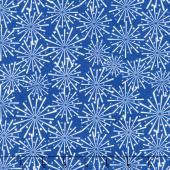 Patriotic Picnic - Fireworks Blue Yardage