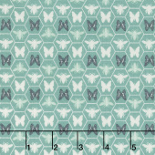 Monarch Grove - Hex Sea Blue Yardage