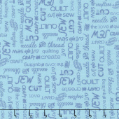 Crafters Gonna Craft - Craft Words Sky Yardage