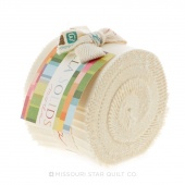 Bella Solids Ivory Junior Jelly Roll