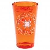 Missouri Star Orange Tinted Pint Glass