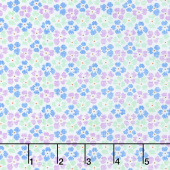 Adeline - Check Flowers Purple Yardage