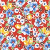 Sugar Sack - Sugar Sack Floral Red Yardage