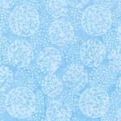 Winter Frost Batiks - Snowball Vine French Blue Yardage