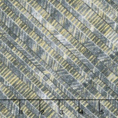 Zephyr - Bias Herringbone Chrome Metallic Yardage