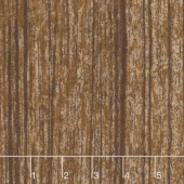 The Great Outdoors- Woodgrain Rust Flannel Yardage