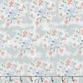 Abbie - Floral Gray Yardage