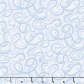 "Infinity - Paisley Script Light Blue 108"" Wide Backing"
