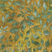 Artisan Batiks - Summer Flowers Leaves Meadow Yardage