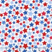 Patriotic Picnic - Stars White Yardage