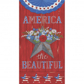 America the Beautiful - America Barnwood Red Panel