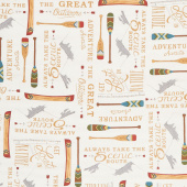 Explore - The Great Outdoors Birch White Yardage