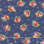 Sweet Harmony - Apron Flower Navy Yardage