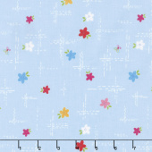 Simply Happy - Dash Blue Yardage