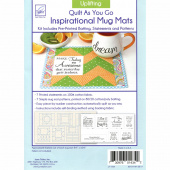 Uplifting Quilt As You Go Inspirational Mug Mats Kit