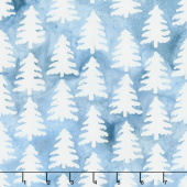 Winter Frost Batiks - Nordic Trees Frozen Pond Yardage