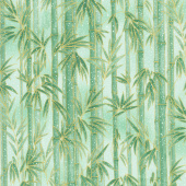 Imperial Collection 16 - Bamboo Green Metallic Yardage