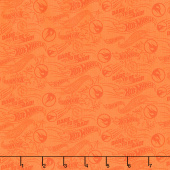 Hot Wheels - Dare to be Rad Orange Yardage