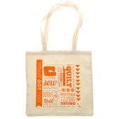 MSQC Inspirational Simple Canvas Tote - Orange