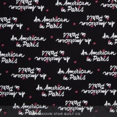 An American in Paris - A Turner Classic Movie Logo Black Yardage