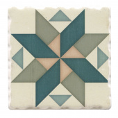 Barn Quilts Coaster - Spinning Pinwheel